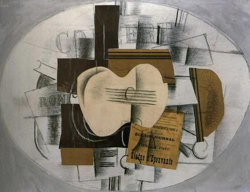 GEORGES BRAQUE Guitar and Program (1913)
