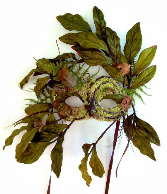 Greenman Mask Nature Natural Decor Spiral Green por CedarfoxStudios