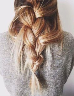 A loose french braid down the back is so chic and simple for the holidays.