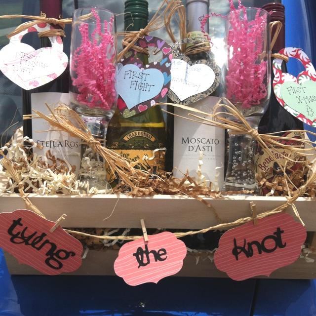 Home made Wedding gift basket Gift baskets Pinterest