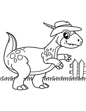 ausmalbild dinosaurier geht spazieren zum kostenlosen ausdrucken und ausmalen. ausmalbilder |