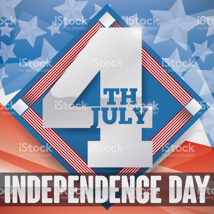 Reminder Date over Rhombus and Patriotic Background for Independence Day