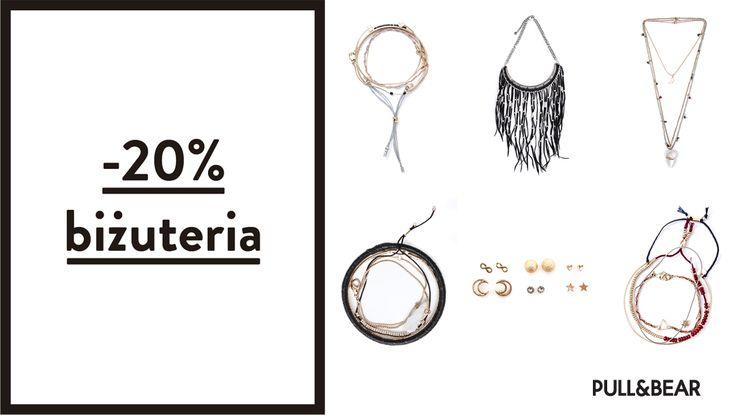 Zapraszamy do skorzystania z promocji -20% na biżuterię w Pull&Bear. Promocja ważna od 1 do 28 października.