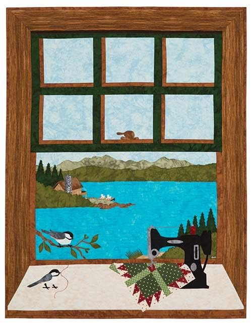 Quilting at the Lake Quilt Pattern: Escape to a blissful sewing getaway with this wall quilt designed by Sue Pritt.