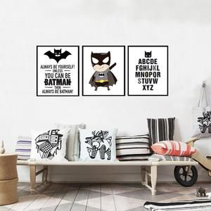 Batman Superhero Canvas Prints Various Sizes (Frame not included)