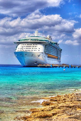 Royal Caribbean Liberty of the Seas docked in Cozumel, Mexico. {gorgeous colors!}