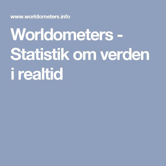Worldometers - Statistik om verden i realtid