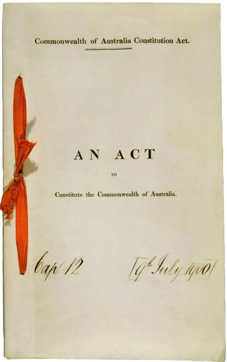 What is the Constitution Act of 1901? Click the following link: http://www.peo.gov.au/learning/closer-look/the-australian-constitution.html