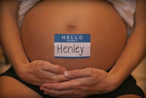 Maternity shoot idea. Cute way to introduce baby's name. Cute to display at …