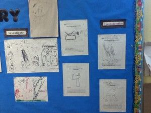 Documentation board displaying what the children have learned at the end of a building inquiry