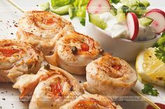 Szaszłyk z kurczaka i cebulki grillowany