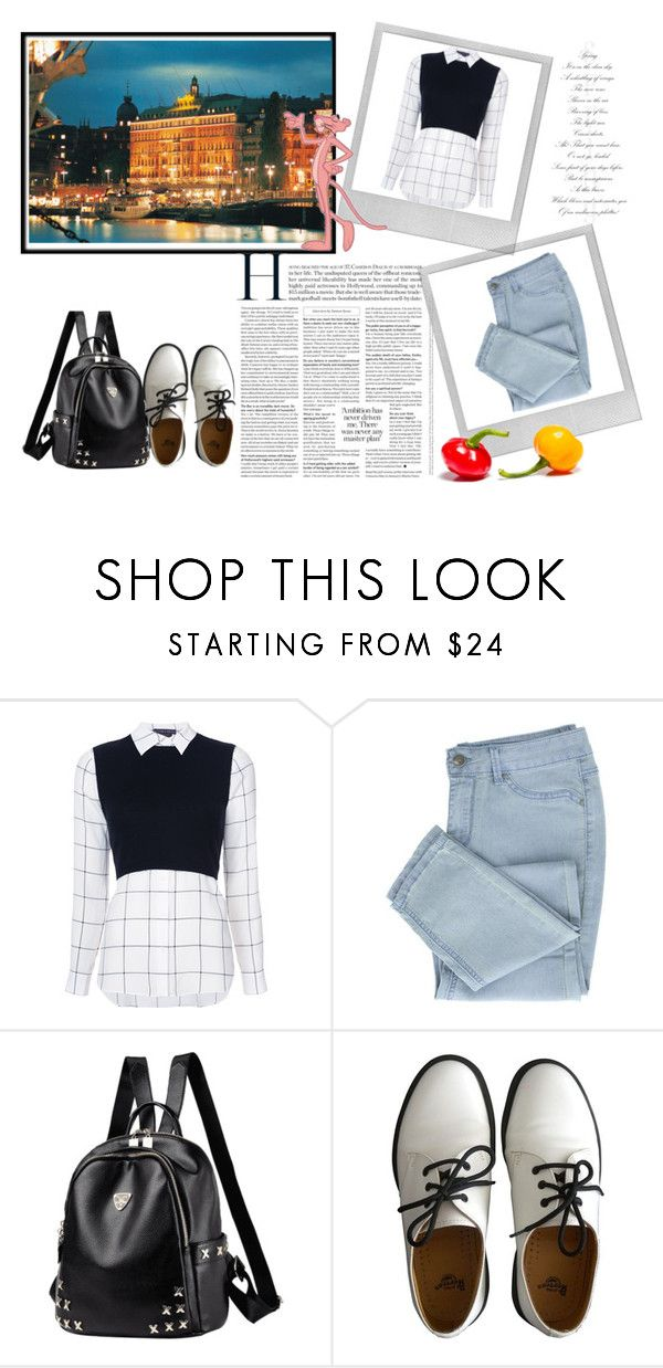 """Sem título"" by mr-1 on Polyvore featuring moda, Alice + Olivia, Dr. Martens e Polaroid"