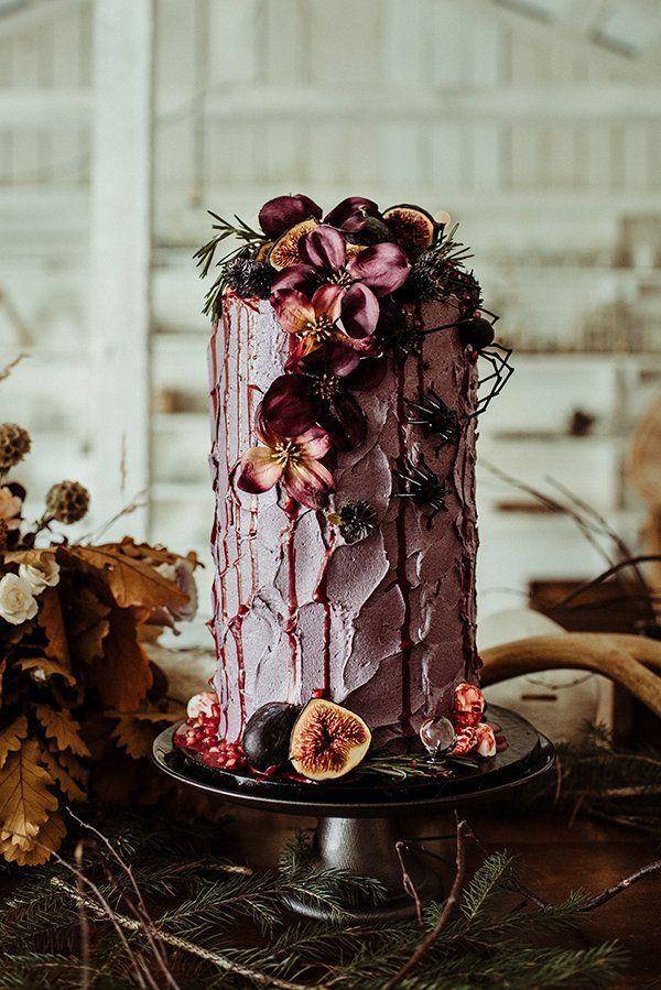 fall table #purpleweddingcakes