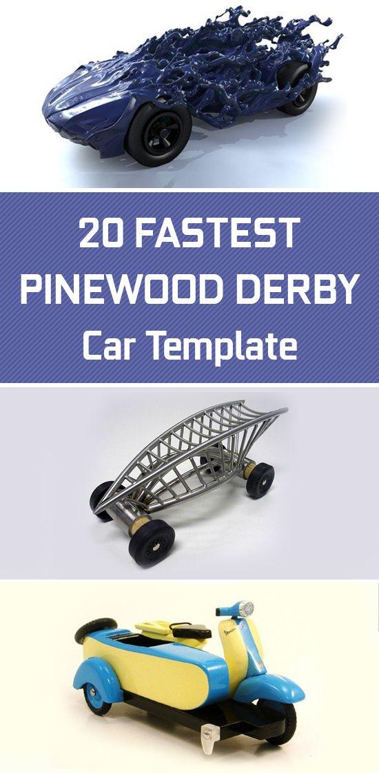 20 Fastest Pinewood Derby Car Templates Spor