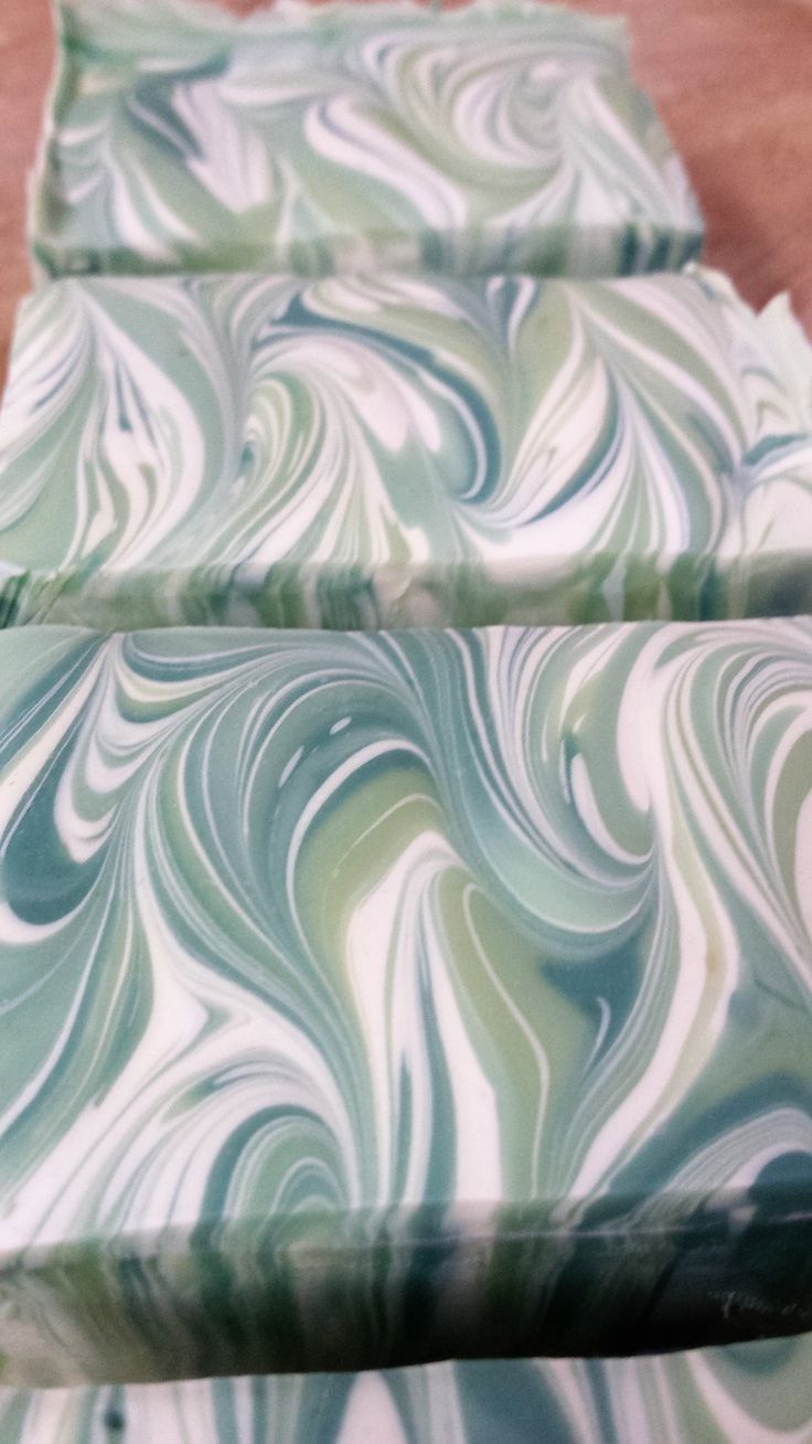 Handmade Soap. Swirled Soap with fresh Avocado and white Clay. Handmade by Soap Street 339