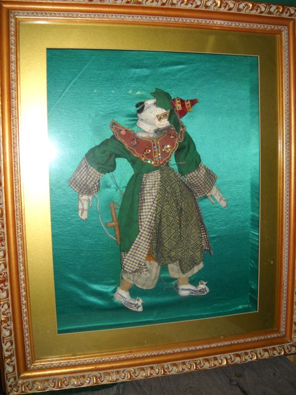 Antique marionette in a shadow box - fabulous