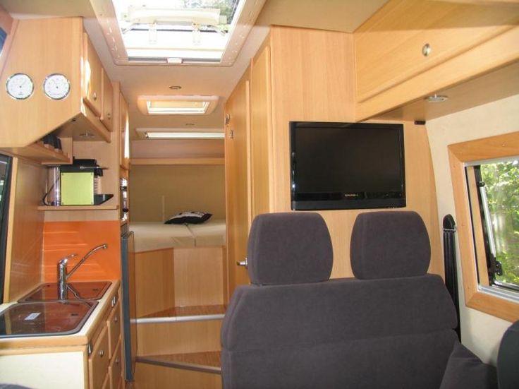 Rear Facing Interior View Of A Cs Luxor Camper Built On A Mercedes Sprinter 319cdi Van Camper