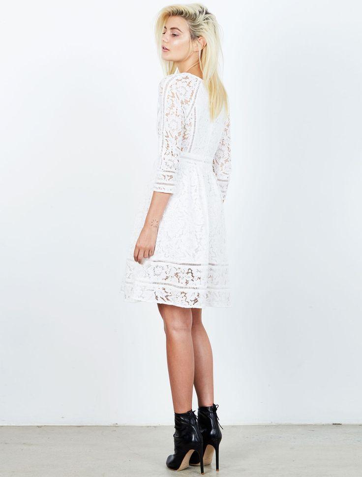 ISLA  - Sinatra White Lace Dress