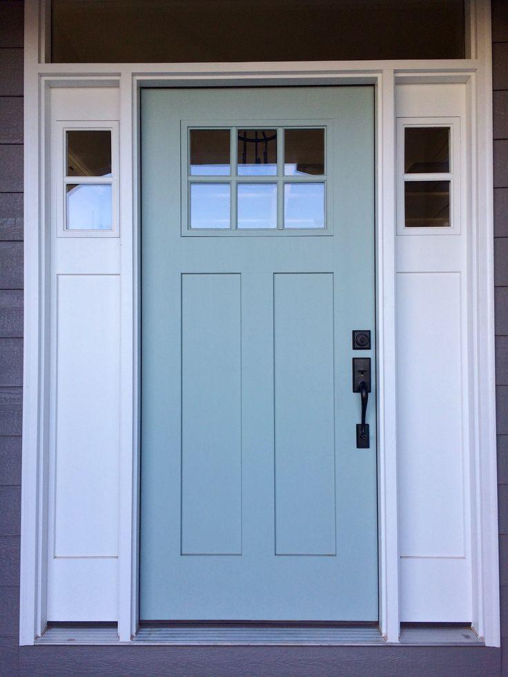 SW Quietude exterior door; robin's egg blue