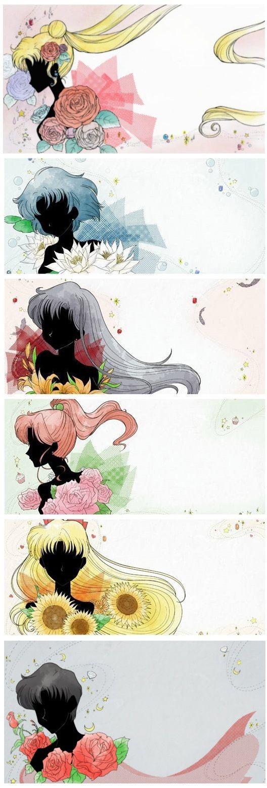 Sailor moon Crystal personajes fondos