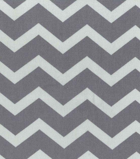 "45"" Home Essentials Print Fabric Chevron Grey"