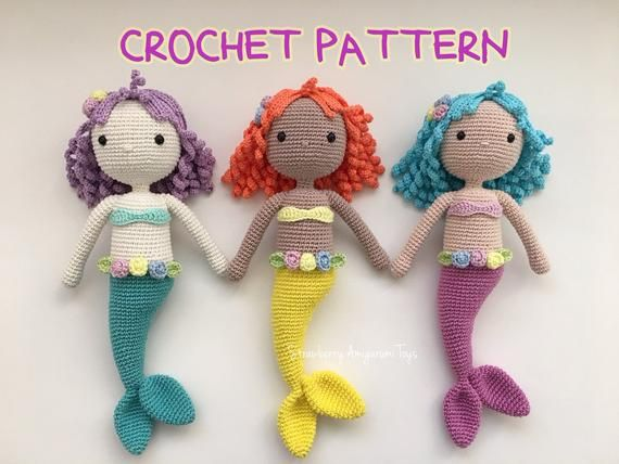 How to crochet little mermaid #2 - YouTube | 428x570