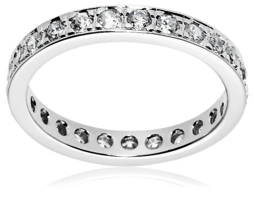 Finger Bling       #Sterling Silver Cubic Zirconia Heart Ring, Size #5       http://amzn.to/H2xOEj