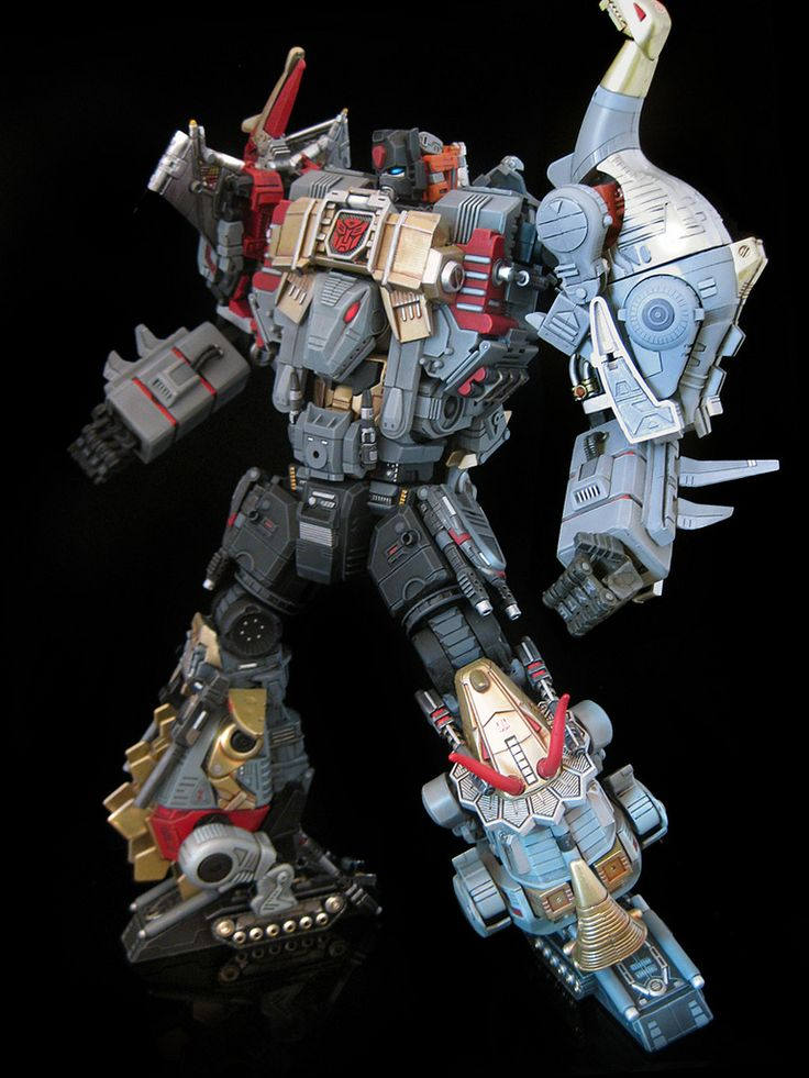 "Custom Transformer: ""Extinction"" combiner, made up of Grimlock, Slag, Sludge, Swoop, and Snarl"