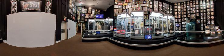 This is a 360 degree view of the Racquetball Court Trophy room at Elvis Presleys Graceland Estate.After touring the Mansion, check out the other great parts of the 14-acre estate as you tour Vernon Presley's business office and Elvis' racquetball building. Also part of the Mansion tour youll visit Elvis' trophy building that houses an amazing collection of his gold and platinum records, as well as other great memorabilia from Elvis'...