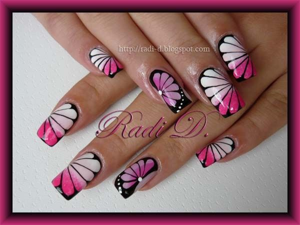 Flower Butterfly - Nail Art Gallery by NAILS Magazine: Nails Magazines, Complex Nails, Nails Art Galleries, Nails Darling, Hoilday Nails Design, Nails Design Cool, Nails Artista, Flower Butterflies, Nails 3