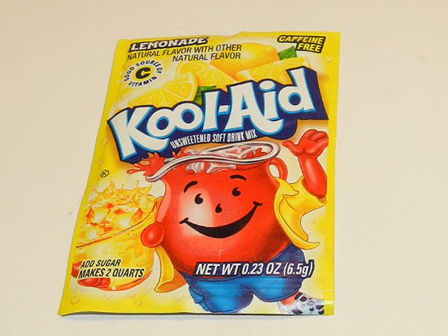 If you've tried the chemical cleaners or bleach and had no luck getting rid of your toilet bowl ring, spend 25 cents on a packet of lemonade flavored Kool-Aid mix. Just pour the mix in the bowl, let it sit for an hour, scrub it with a toilet brush, and then flush away your toilet ring troubles.