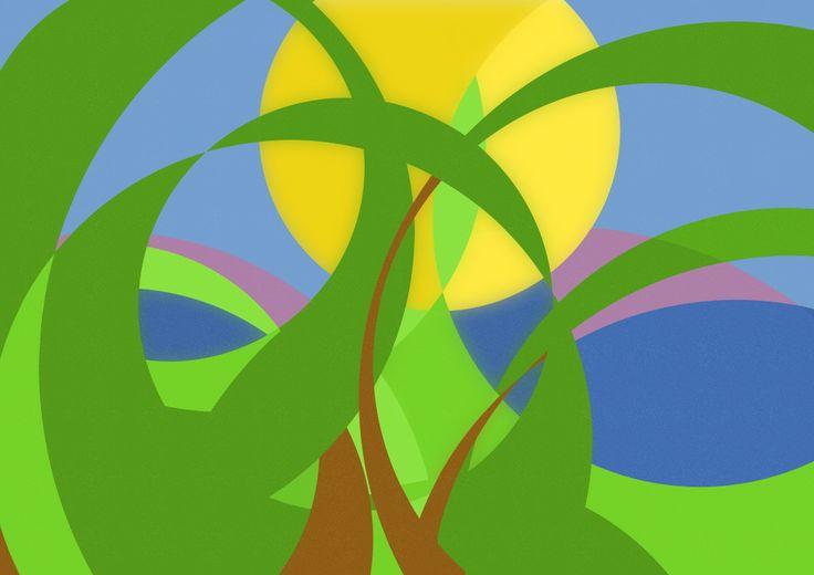 #inkscape #landscape #abstraction #graphics #design #vector #circles