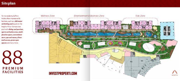 Site Plan Saffron Noble Sentul City