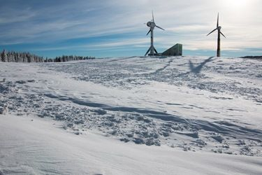 Winter Snow Landscape Wind Power Generator #ecology #sunny #sustainable #countryside #sky #alternative #environment #plant #generator #ecological #season #blue #snow #outdoors #tyre #wind-power #conservation #white #rural #cold #landscape #technology #wind-turbine #turbine #energy