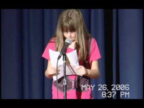 Forrest Park Middle School Spring Talent Show - Melissa Bell her fan fiction story of Ashton Kutcher