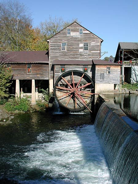 Pigeon Forge, Tennessee. The Old Mill.  Favorite spot of many Tennesseans.