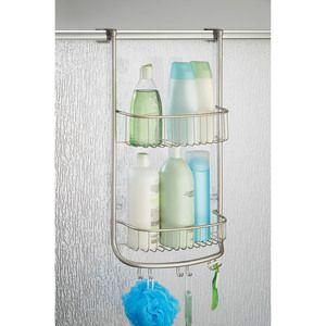 Serviteur de douche à accrocher en métal satiné 2 étagères H.66.5cm FORMA