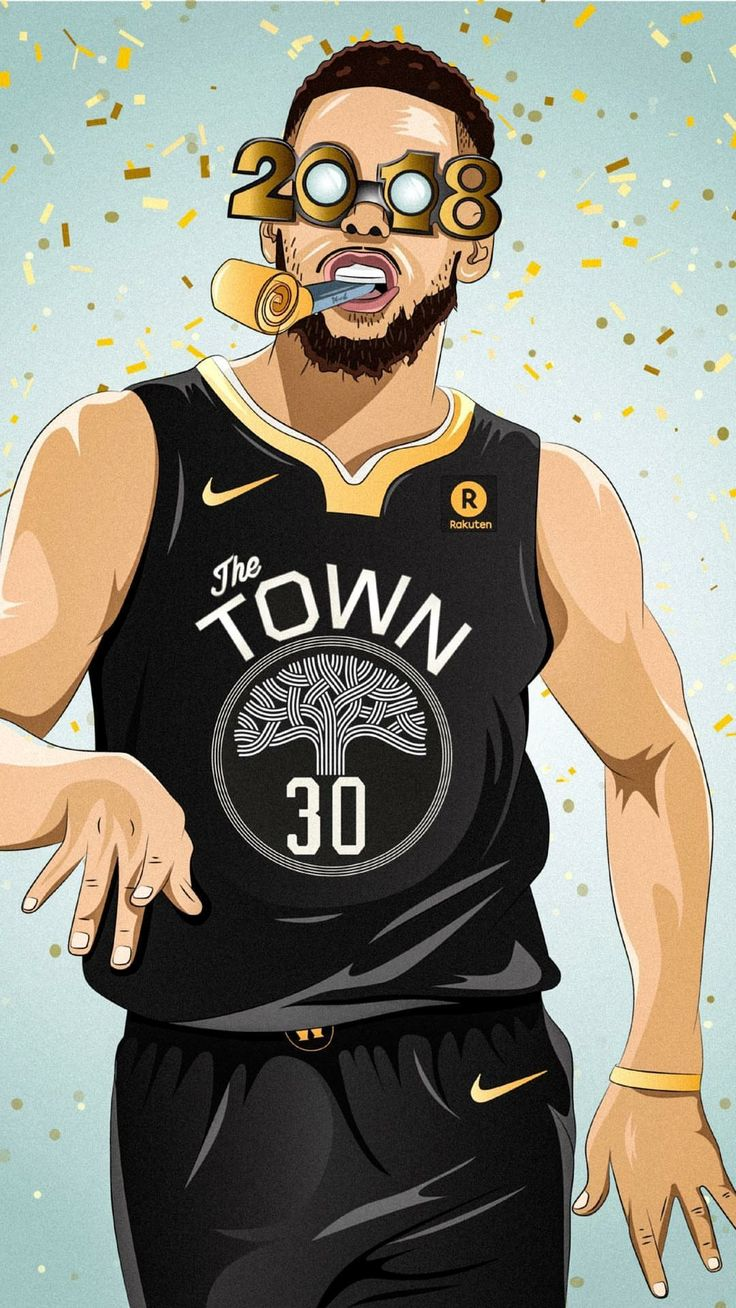 Stephen Curry 2018 New Year Wallpaper