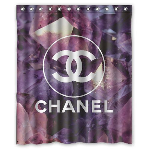 Coco Chanel Logo Diamonds Custom Shower Curtain by TheReefByGary on Etsy