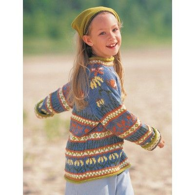 Free Intermediate Child's Sweater Knit Pattern