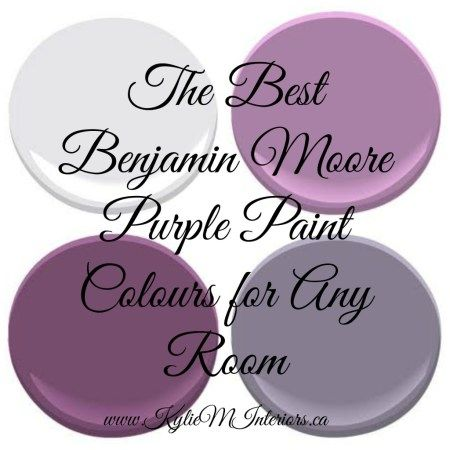The Most Popular Benjamin Moore Purples (and Purple Undertones) - Kylie M Interiors
