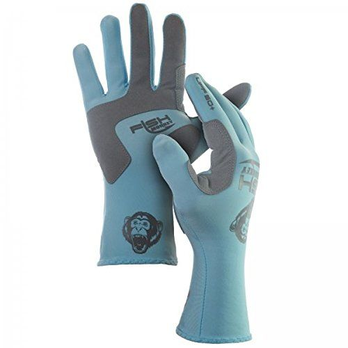 Fish Monkey Full Finger guide UV Sun Glove  http://fishingrodsreelsandgear.com/product/fish-monkey-full-finger-guide-uv-sun-glove/  UPF 50+ sun protection. Synthetic leather palm non-slip grip adds comfort and fights hand fatigue. Quick dry breathable fabric for all-day comfort