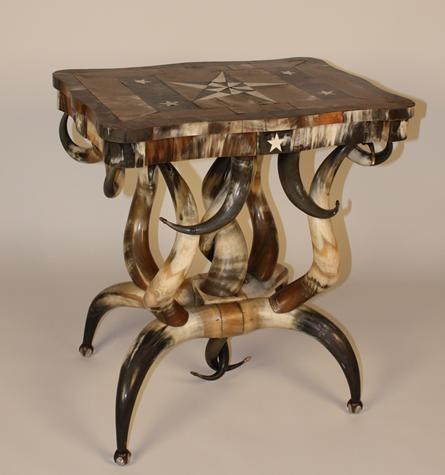 Chapter 9 - Exoticism - Furniture - Horn Furniture, late 19th century; Texas and California - Up to date table