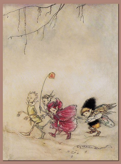 Arthur Rackham Watercolor, pen & ink [English Golden Age Illustrator, 1867-1939]