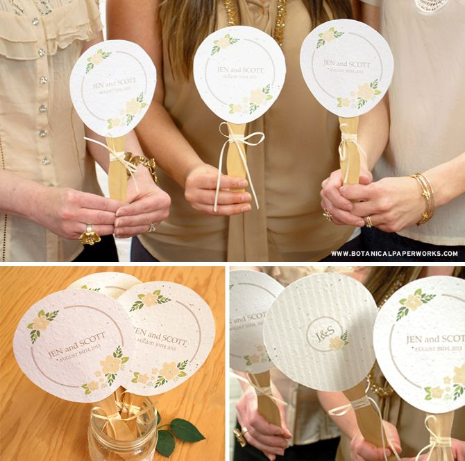 Check Out These Beautiful Free Printable Personalized Wedding Fans That Double As Wedding Favors