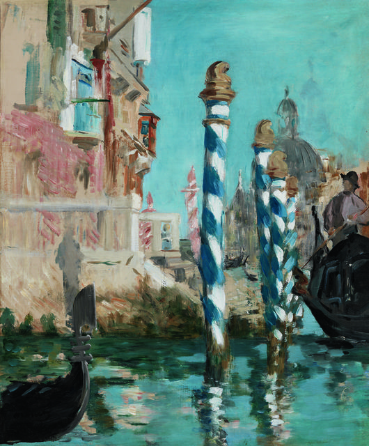 Édouard Manet (French, 1832-1883),View in Venice - The Grand Canal, 1874. Oil on canvas,57.2 x 47.6 cm.