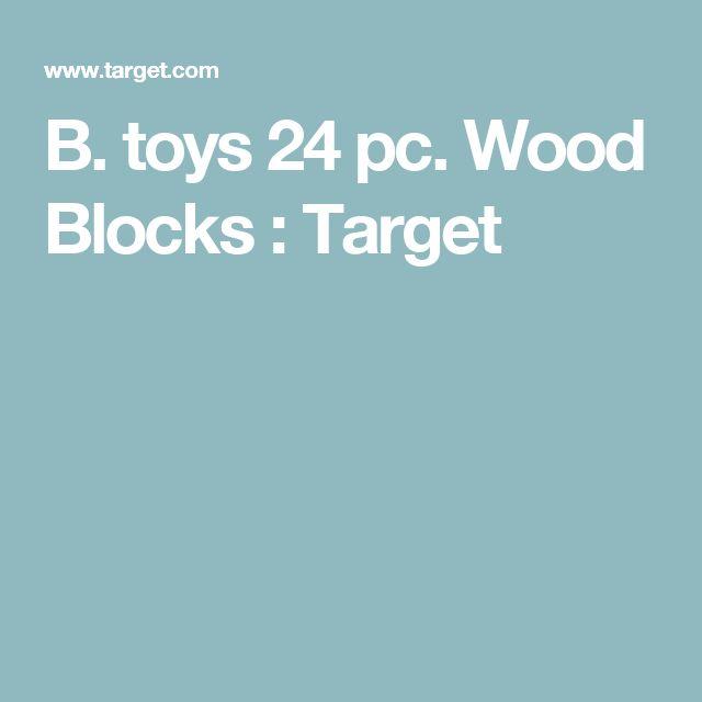 B. toys 24 pc. Wood Blocks : Target
