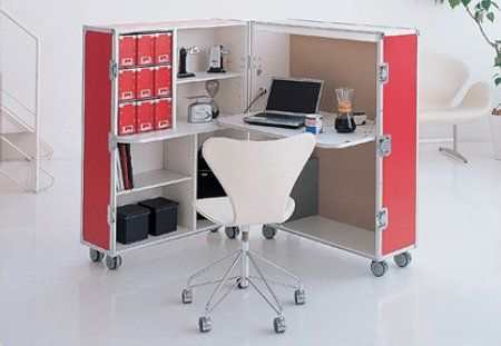Trunk office??  Ok, this might be a wee bit too small, but I like the thought of closing it all up and rolling it away.