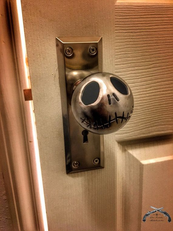 Jack Skellington Door Knob and Mortise Lock Set with Key, Nightmare Before Christmas, Tim Burton