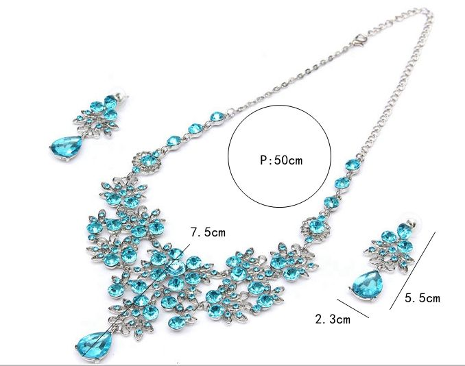 Luxury Water Drop Crystal Flower Necklace Earrings Wedding Jewelry Set FREE SHIPPING  Shipping Notes: The order is in process. Processing Time: 1-3 business days Ship to: Worldwide Shipping Time 7-25 business days, which mostly depends on the destination and Customs Clearance. Non-registered airmail has no tracking number. Free shipping worldwide http://TCGO.info/bbl7